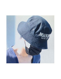 Fashion White Letter Embroidery Decorated Simple Cap
