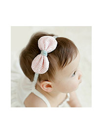 Lovely Light Green Hand-woven Bowknot Decorated Hair Hoop