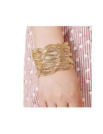 Bohemia Gold Color Pure Color Decorated Band Design Bracelet