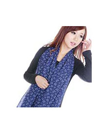 Fashion Green Bowknot Pattern Decorated Simple Scarf