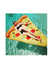Lovely Yellow Pizze Pattern Decorated Triangle Shape Swim Ring