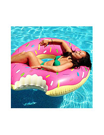 Lovely Brown Doughnut Pattern Decorated Simple Swim Ring