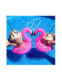 Lovely Pink Swan Shape Design Color Matching Cola Cup Holder