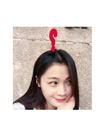 Fashion Yellow Question Mark Decorated Color Matching Simple Hair Clip