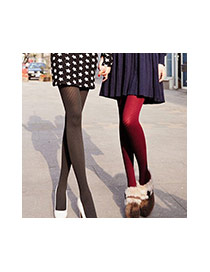 Elegant Pink Stripe Pattern Decorated Pure Color Silk Stockings