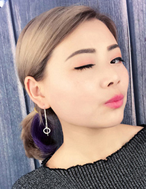 Fashion Silver Color Hollow Out Round Shape Decorated Earrings