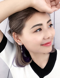 Fashion Silver Color Wing Shape Decorated Earrings