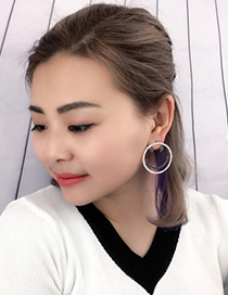 Fashion Silver Color Smiling Face Decorated Simple Earrings