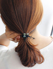 Fashion Transparent Square Shape Decorated Multilayer Hair Band