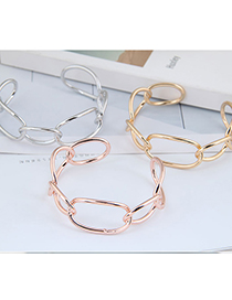 Fashion Gold Color Cross Geometry Alloy Openwork Bracelet