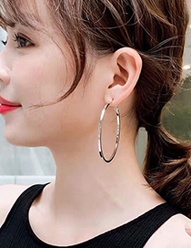 Fashion Gold Color 40*4mm Glossy Alloy Round Earrings