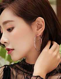 Fashion Gold Color 50mm Polka Dot Geometric Round Alloy Earrings