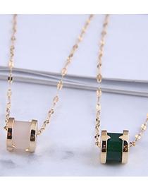 Fashion White Diamond-studded Waist Alloy Necklace