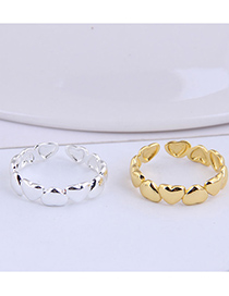 Fashion Gold Color Heart Alloy Open Ring