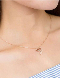 Fashion Fox Titanium Steel Fox Necklace