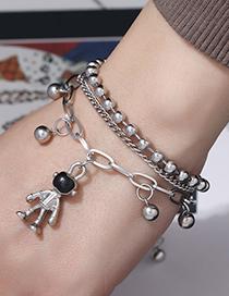 Fashion Silver Stainless Steel Astronaut Bracelet