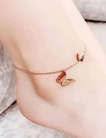 Fashion Butterfly Butterfly Titanium Steel Anklet