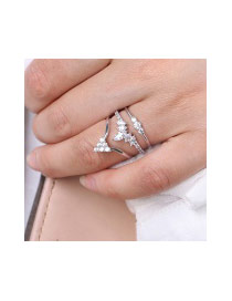 Fashion White Crown Shape Decorated Pure Color Opening Ring