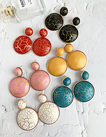 Fashion Red Alloy Resin Round Earrings