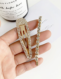 Fashion Gold Alloy Diamond Clip