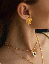 Fashion Gold Gold-plated Sun Earrings