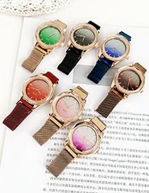 Fashion Brown Alloy Bright Watch