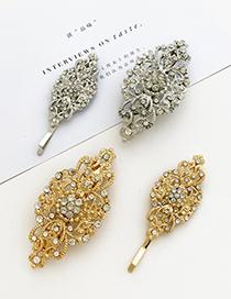Fashion Gold Alloy Diamond Geometric Hair Clip Set
