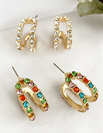 Fashion Champagne Alloy Stud Earrings