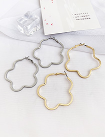 Fashion Golden Alloy Cloud Shape Earrings
