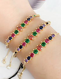 Fashion Golden Cubic Zirconia Bracelet