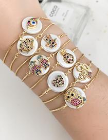 Fashion Golden Cubic Zirconia Pineapple Bracelet