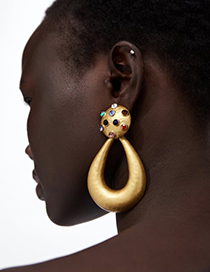 Fashion Yellow Waterdrop Shape Decorated Earrings