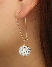 Fashion White Ball Shape Decorated Earrings