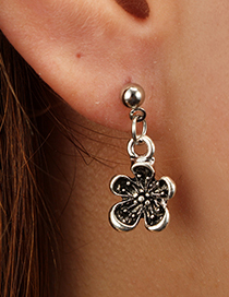 Fashion Silver Color Letter Pattern Decorated Earrings