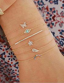 Fashion Gold Color Butterfly&flower Decorated Bracelet(6pcs)
