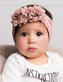 Fashion Rose Red Chiffon Flower Nylon Baby Hair Band