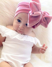 Fashion Lotus Root Starch Gold Velvet Bow Wide Version Elastic Children's Hair Band