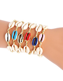 Fashion Gold Drop Oil Shell Bracelet