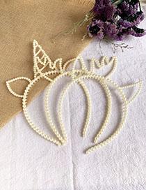 Fashion Resin Resin Imitation Pearl Headband