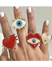 Fashion White Love Eyes Alloy Love Eye Ring
