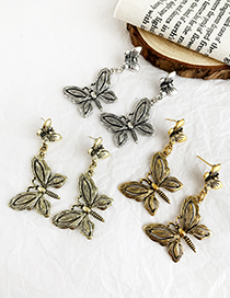 Fashion Gold Alloy Butterfly Earrings