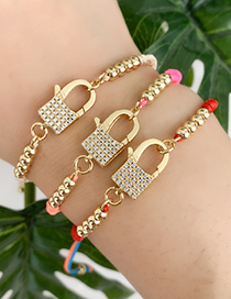 Fashion Color Braided Zircon Beaded Braided Rope Bracelet
