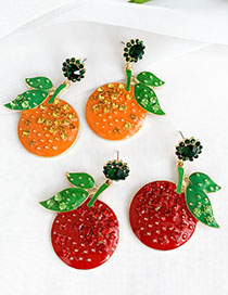Fashion Red Apple Shape Earrings