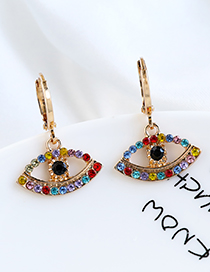 Fashion Color Alloy Earrings With Diamonds