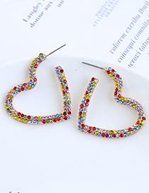 Fashion Color Hollow Love Stud Earrings