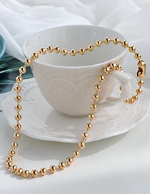 Fashion Gold Color Alloy Bead Necklace
