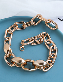 Fashion Golden Resin Chain Necklace