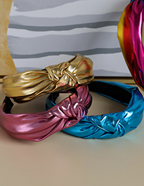 Fashion Pink Knotted Headband In Shiny Fabric