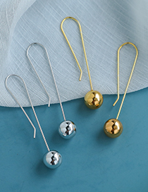 Fashion Gold Color Color Alloy Resin Beads Earrings