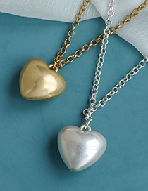 Fashion Silver Color Alloy Chain Resin Love Necklace